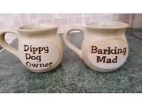 Ceramic mugs for dog lovers