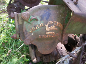 Antique John Deere sickle bar mower.