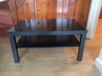 Black wooden coffee table must go this weekend