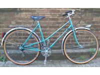 City ladies dutch bike PEUGEOT - size 18in, new TYRES, serviced warranty - Welcome for ride :)