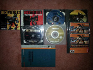 5 Mech Warrior and Mech Commander Games and 2 Expansion Sets