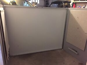 Magnetic whiteboard with doors