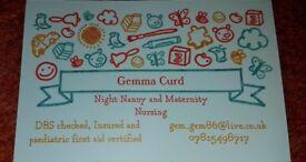 Experienced Night Nanny/ Maternity Nurse