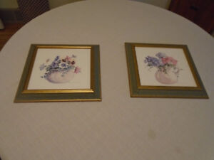 2 floral pictures