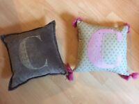 Letter 'C' Cushions