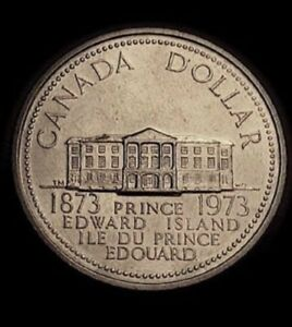 1973 PRINCE EDWARD ISLAND CENTENNIAL COMMEMORATIVE NICKEL DOLLAR