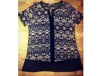 Ladies Patterned Blouse - Size 16