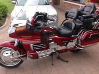 honda goldwing 1500cc candy red 01/03/ 1999