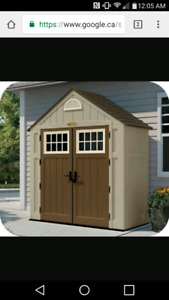 WANTED: Resin or plastic garden shed