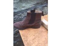 brown suede chelsea boots size 6