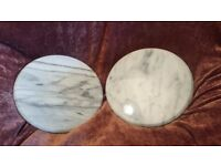 """Marble Lazy Susan Turntables 12""""; Ideal for cake display / decorating / cheese board"""