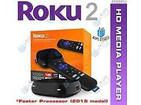 Roku 2 Streaming Media Player (4205E) with Faster Processor (2015 model)... brand new