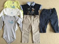 Baby boy clothes 9-12 months very good condition