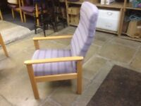 Two Parker Knoll chairs..