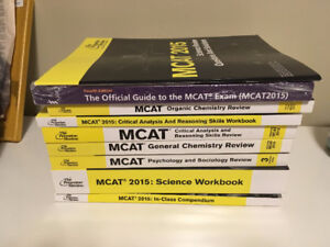 2015 MCAT Textbooks (Complete Set) + Official Guide to the MCAT