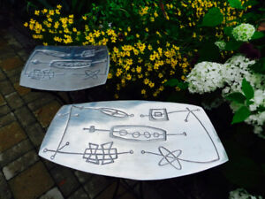 2 Astroific Galactic Portable Patio Retro Tables Beam Me Up!