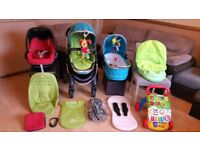 iCandy Peach Pushchair Pram StrollerTravel System Maxi Cosi Pebble Car Seat And More