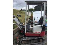 Takeuchi tb 108 micro excavator