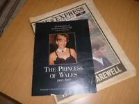 Princess Diana royal collectable funeral vintage newspaper