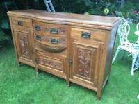 Antique French carved sideboard