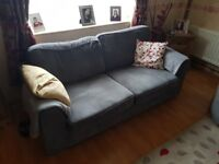 Dfs skills 3 seater sofa cuddle chair and pouffe