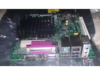 Mitac PD14TI HN Mini-ITX Motherboard Intel Atom D2500 CPU Fan less - Power on