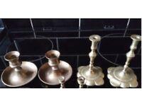 Antique Brass Candle Sticks x 20
