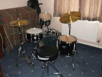 Premier jazz drum kit, Zildjian cymbals, padded drum and cymbal bags.