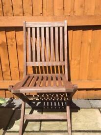 Garden foldable chair x 4