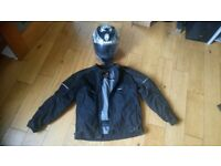 Motorbike helmet and jacket