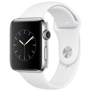 !!!Elegant!!! Apple Watch 2 42mm Stainless Steel Case with White