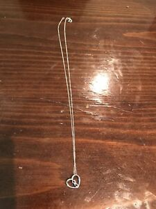 Real silver heart Infiniti necklace