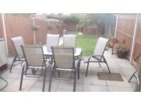 Garden patio table set + extra set