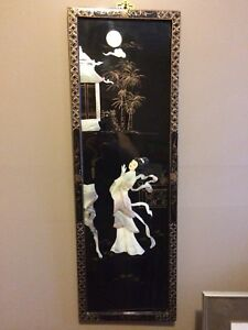 Asian Mother of Pearl Wall Plaque