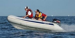 Grand inflatable boat with Honda 9.9hp motor