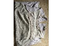 Women's lace overlay top