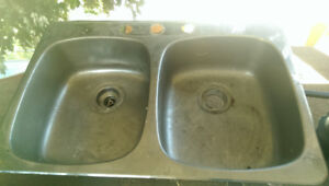 FREE Kitchen double Stainless Steel Sink No Dents