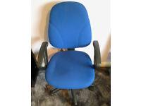 Office swivel chair blue