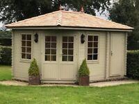 NEW* Beautiful Garden Summerhouse with storage 4.40m W x 3.00m D