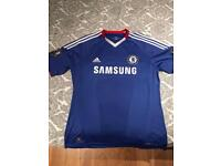 drogba chelsea top 10/11 size large