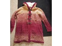 Brand New: 'Marisota' Longline Hooded Cardigan/Jacket - Size 20/22