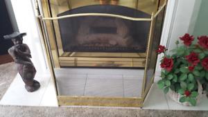 Brass Fireplace Screen (like new)