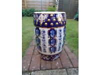 Large Oriental ceramic garden stool