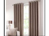 Dunelm eyelet curtains 228 X 182 cm