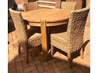 Next table and 4 matching chairs
