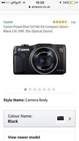 Canon PowerShot SX700 HS Compact Zoom Camera - Black (16.1MP, 30x Optical Zoom)