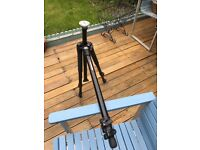 Manfrotto 055XB Tripod detachable centre column and independent legs to shoot real low down. Boxed