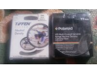 Tiffen ND Filter & Polaroid variable ND Filter