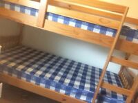 Good quality pine children's bunk bed in pristine condition. Sturdy and solid