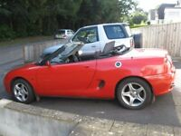 1998 MGF CONVERTIBLE 1.8 TAXED MOT JUNE 2018 SERVICE HISTORY .POSS/ PART X